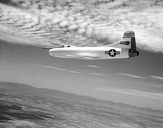 Douglas D-558-1 Skystreak - D-558-1 in flight