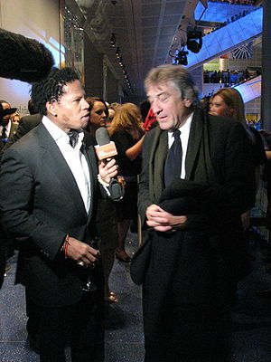 D. L. Hughley - Hughley with Robert De Niro in January 2009.