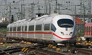 ICE 3 - DB logoed ICE 3 (Class 406) approaching Frankfurt (Main) Hauptbahnhof