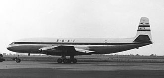 Jet airliner - DH.106 Comet 1 of BOAC at London Heathrow on 2 June 1953