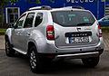 Dacia Duster TCe 125 4x2 Prestige (Facelift) – Heckansicht, 13. Juli 2014, Ratingen.jpg