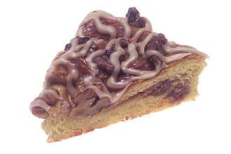 Danish pastry - A slice of an American apple crumb Danish