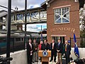 Dannel Malloy at grand re-opening of Branford station, October 2016.jpg
