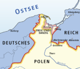 Location of the city of Danzig in 1937