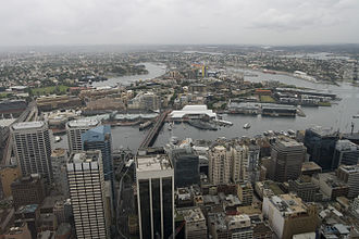 Pyrmont, New South Wales - View of Pyrmont from Sydney Tower