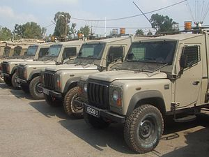 AIL Storm - Row of David vehicles