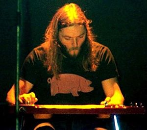 Lap steel guitar - David Gilmour playing lap steel guitar, 26 January 1977