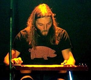 Lap steel guitar - David Gilmour playing lap steel guitar, 26 January 1977