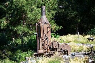 Steam donkey - Steam donkey on display at Disney California Adventure Park theme park