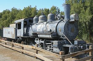 Death Valley Railroad - DVRR No. 2 at the Borax Museum at Furnace Creek, Death Valley National Park