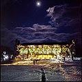 Deering Library Lights (Film) (12104679355).jpg