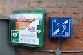 Defibrillator, Bexhill Railway Station, Bexhill-on-Sea.jpg