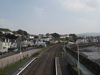 Deganwy - Image: Deganwy Station Southbound looking towards Llandudno Junction