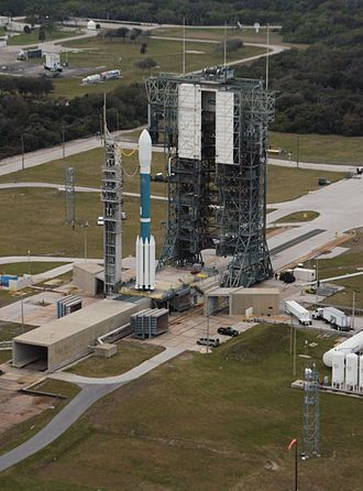 Cape Canaveral Air Force Station Space Launch Complex 17 - Delta II rocket with the THEMIS spacecraft atop ready for launch on Pad 17B on February 16, 2007