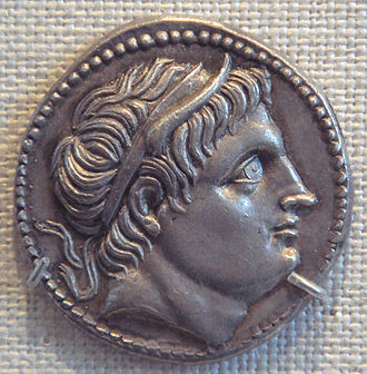 History of Greece - Coin showing Demetrius I Poliorcetes.