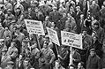 Demonstraties in Luik tegen de Eenheidswet, demonstranten trekken door Luik, Bestanddeelnr 911-9343.jpg