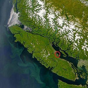 Denman Island - Image: Denman Island highlight a