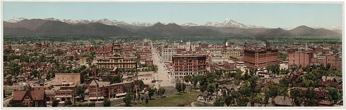 Panorama print of Denver, 1898 Denver Colorado 1898 - LOC - restoration1.jpg