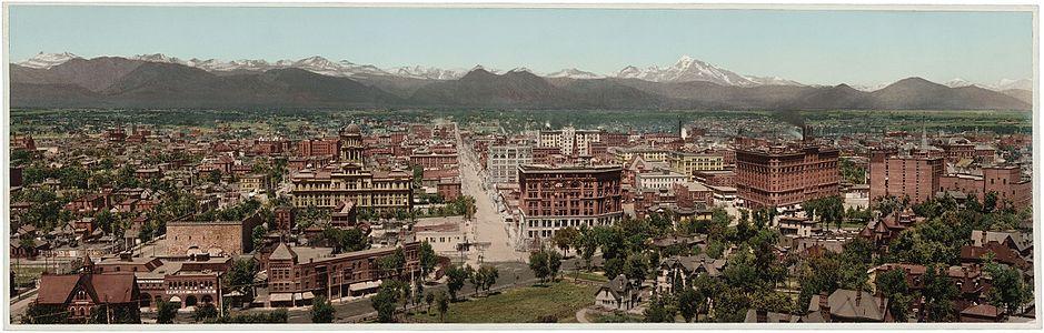 Denver Colorado 1898 - LOC - restoration1