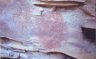 Deur Kothar - Rock paintings in caves at Deorkothar