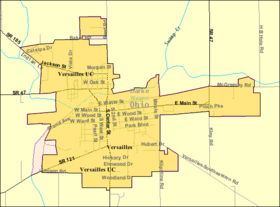 Detailed map of Versailles, Ohio.png