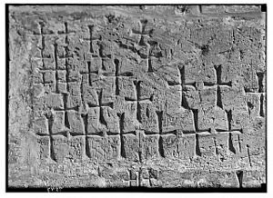 Details of crosses cut in original building stones. 1934-1939.jpg