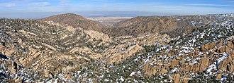 Devil's Punchbowl (Angeles National Forest) - Panorama of the Devil's Punchbowl from the Devil's Chair.