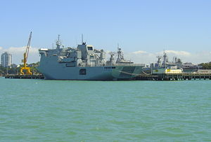 Devonport Naval Base - ''Canterbury'' berthed at the base.