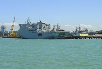 Devonport Naval Base - Canterbury berthed at the base.