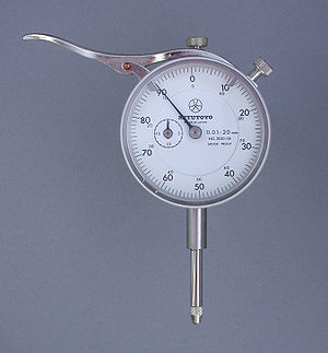 Indicator (distance amplifying instrument) - 0.01–20 mm dial indicator