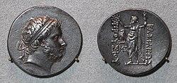 Dinastia attalide di pergamo, prusias I e II, tetradracma della bitinia, 228-182 ac o 182-149 ac ca.JPG