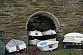 Dinghies stacked up for the winter - geograph.org.uk - 1713167.jpg