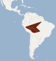 Distribution of Carollia benkeithi.png