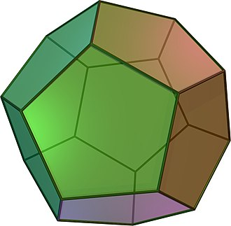 Solids with icosahedral symmetry - Image: Dodecahedron