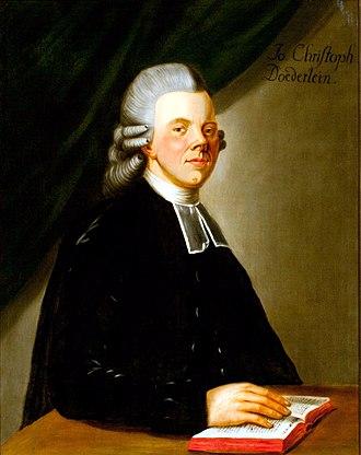 Johann Christoph Döderlein - Johann Christoph Döderlein
