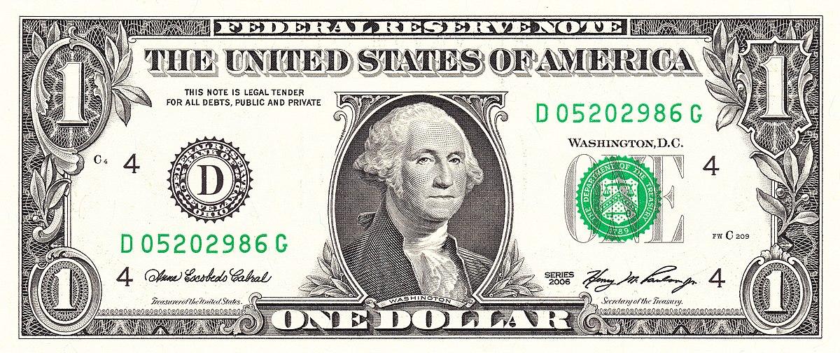 Ein Dollar Note