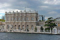 Dolmabahçe Palace and Sultans gate april 19 2014.jpg