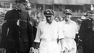 Bill Ponsford - Bradman and Ponsford during the fourth Test against England in 1934