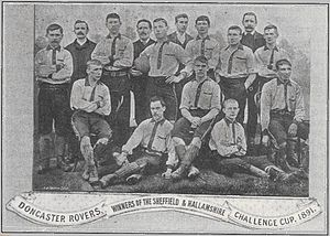 Doncaster Rovers F.C. - The 1891 Sheffield and Hallamshire Challenge Cup winning Doncaster Rovers team.