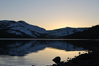 Donner Lake - Sunset at Donner Lake. March, 2009.