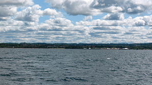 Traverse City, Michigan - Downtown Traverse City as viewed from West Grand Traverse Bay