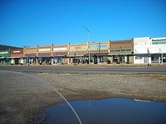 Handley, Fort Worth, Texas - A line of businesses in what once was the downtown area of Handley, Tx