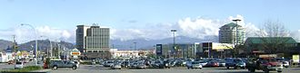 Skyline of Abbotsford, the largest city outside of Greater Vancouver Downtownabbotsford.JPG