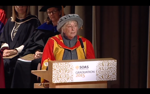 Frances Wood - Frances Wood being honoured in 2015 at the graduation ceremony of SOAS