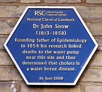 John Snow - Blue plaque erected by the Royal Society of Chemistry