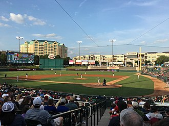 Frisco RoughRiders - Frisco playing against the Midland RockHounds in June 2017