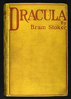 <i>Dracula</i> 1897 Gothic horror novel by Irish author Bram Stoker
