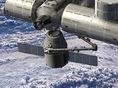 Décollage vers la Station Spatiale Internationale prévue aujourd'hui 390px-Dragon_ISS