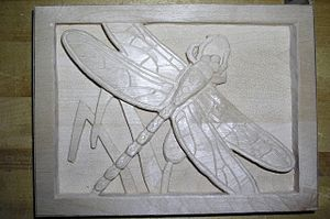 Relief carving - Image: Dragonfly Relief