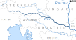 Map of Drava River
